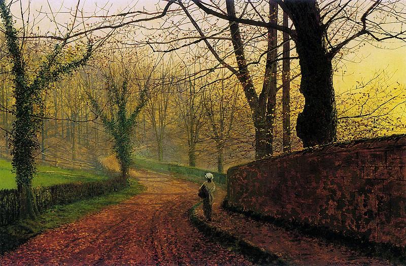 Grimshaw John Stapleton Park near Pontefract Sun. Джон Эткинсон Гримшоу