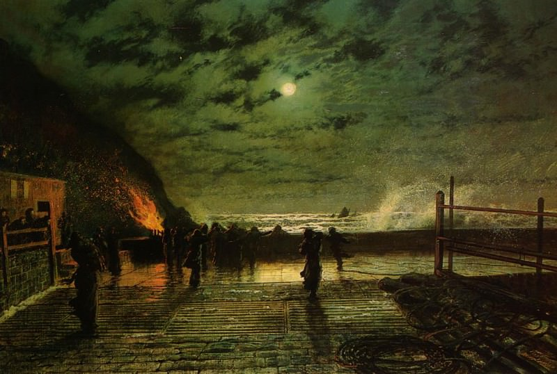 In Peril. John Atkinson Grimshaw