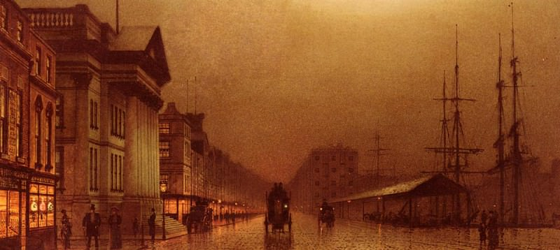 Liverpool Customs House. John Atkinson Grimshaw