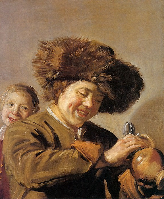 Two laughing boys. Frans Hals