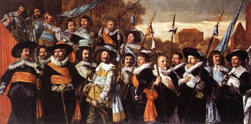 Officers And Sergeants Of The St Hadrian Civic Guard 1639. Frans Hals