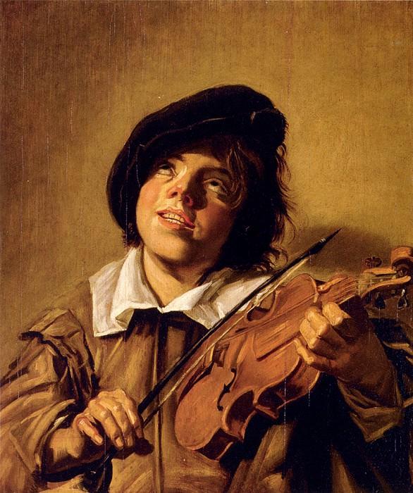 Boy Playing A Violin. Frans Hals