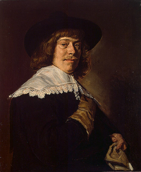 Portrait of a young man holding a glove, ca 1650, 80. Frans Hals