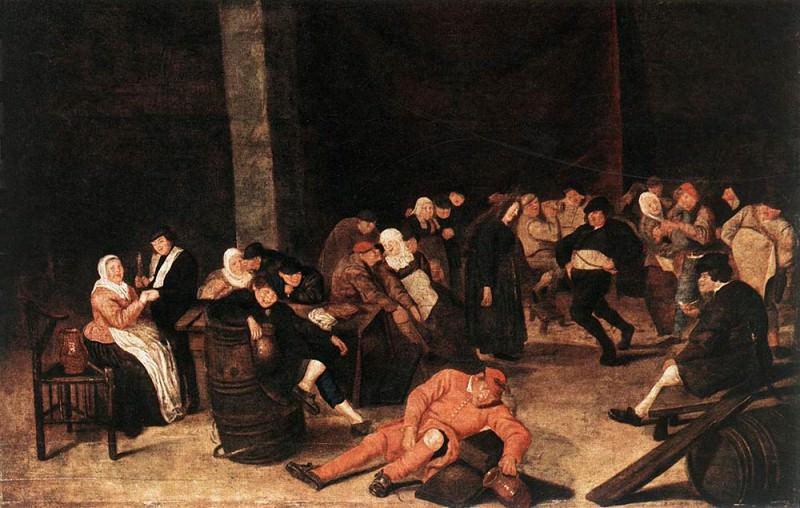 Peasants At A Wedding Feast. Frans Hals