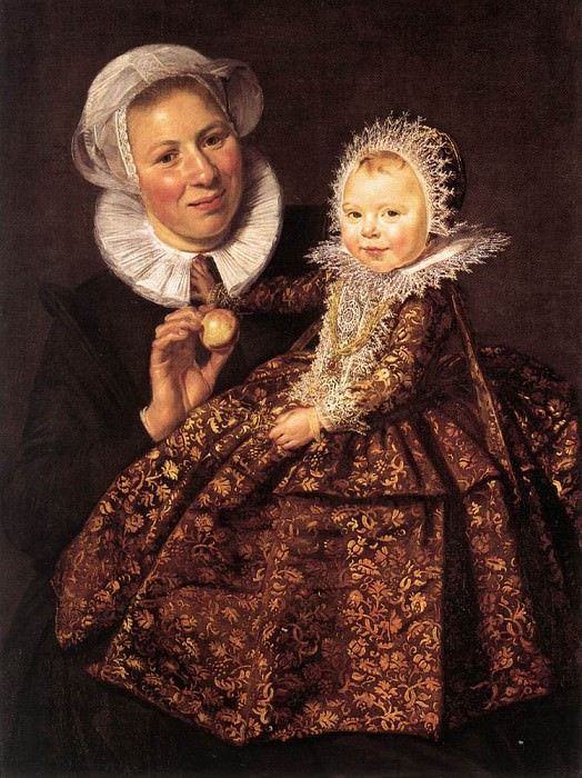 Catharina Hooft with her Nurse. Frans Hals