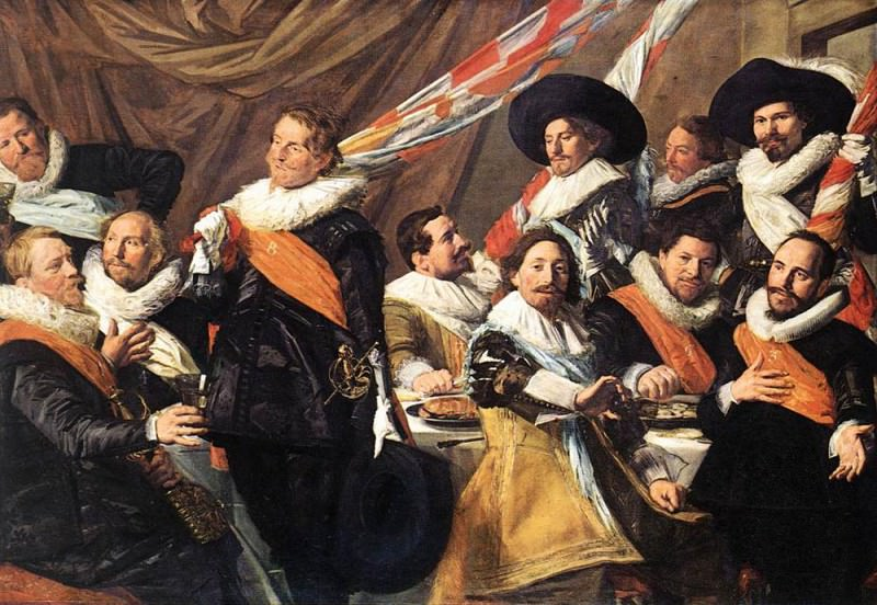 Banquet Of The Officers Of The St George Civic Guard Company. Frans Hals