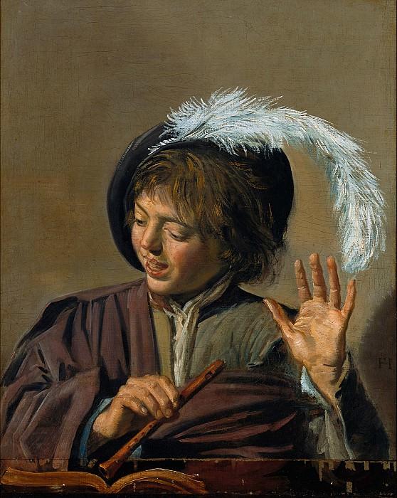 Франс Халс (Хальс) - Поющий мальчик с флейтой. Frans Hals (Singing Boy with Flute)