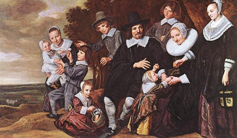 Family Group In A Landscape 1648. Frans Hals