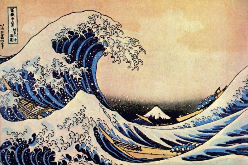 great wave off kanagawa early-1830s. Hokusai