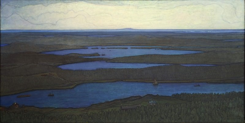 Over Forest and Lake. Johan Otto Hesselbom