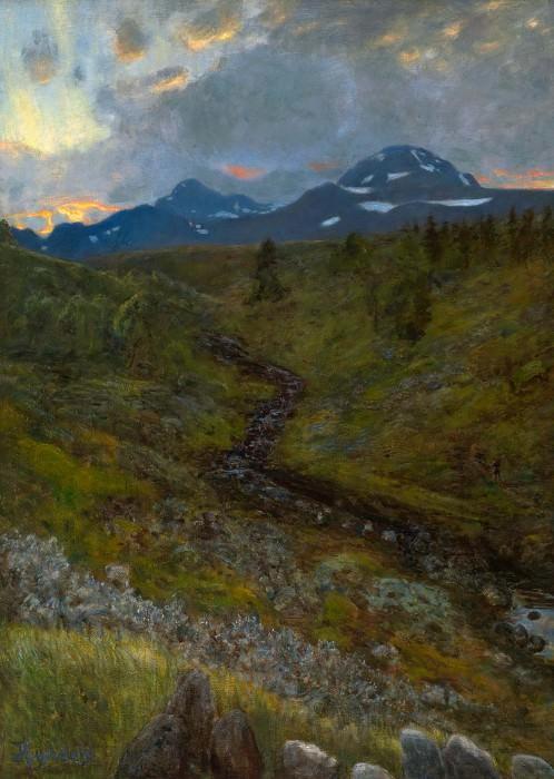 Горный пейзаж близ Туддаля. Ханс Олаф Хейердал