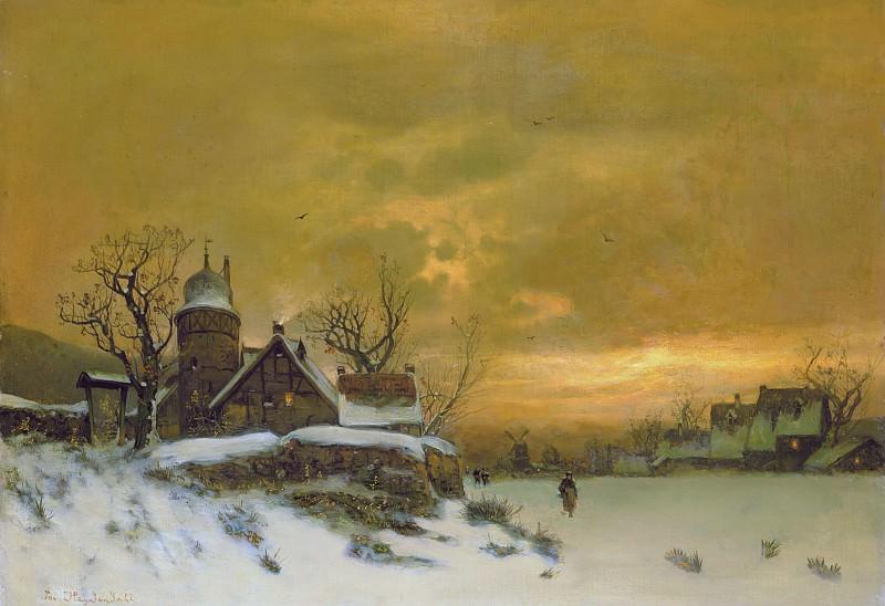Зимний пейзаж. Ханс Олаф Хейердал