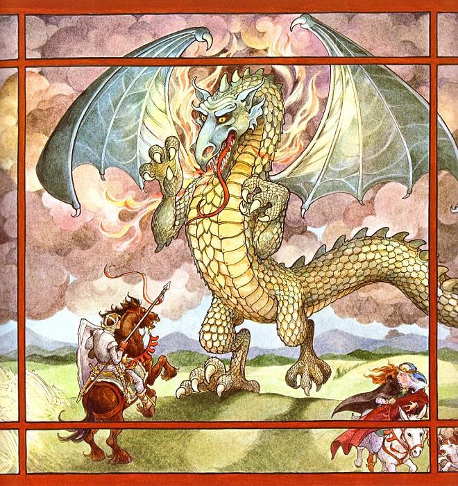St. George & The Dragon 05 TrinaSchartHyman sqs. Trina Schart Hyman