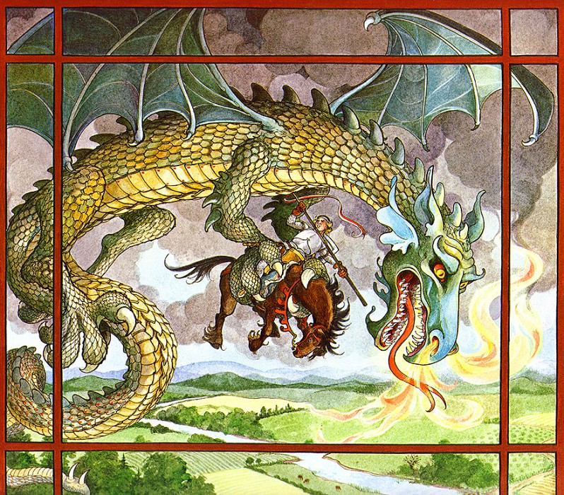 St. George & The Dragon 06 TrinaSchartHyman sqs. Trina Schart Hyman