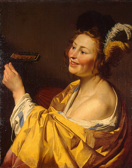 The lute player, 1624, 84x66.5 cm. Gerard van Honthorst