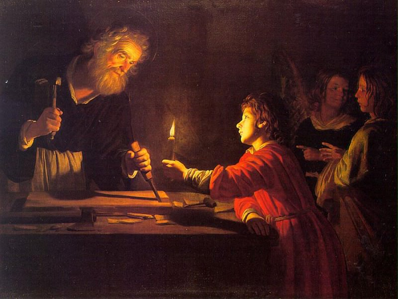 Childhood Of Christ. Gerard van Honthorst