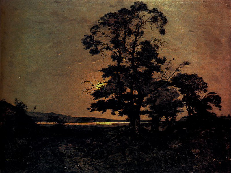 Moonlight On The Loire. Henri-Joseph Harpignies