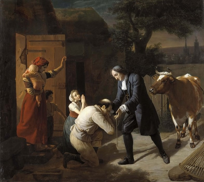 Fénélon returns a Stolen Cow to a Peasant. Louis Hersent