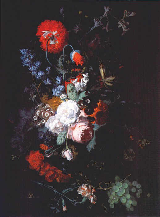 still life of flowers and fruit c1715. Jan Van Huysum