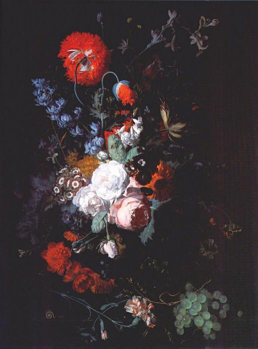 Натюрморт с цветами и фруктами, ок.1715. Ян ван Хёйсум