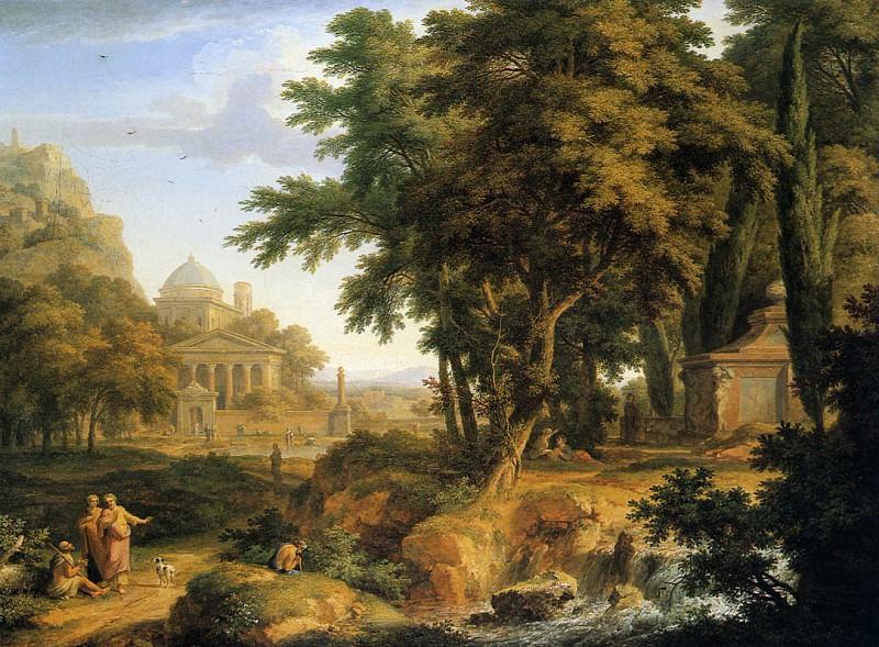 Идиллический (аркадский) пейзаж. Ян ван Хёйсум