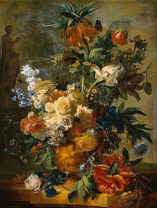 Still life with flowers. Jan Van Huysum