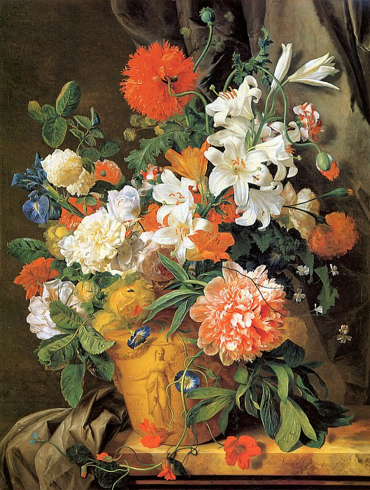 Flower still life. Jan Van Huysum