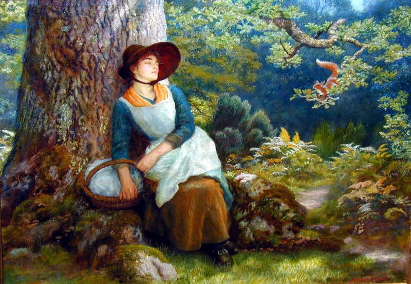 Asleep in the Woods. Arthur Hughes