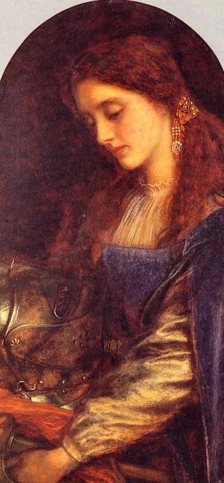 Элейн с доспехами Ланселота. Артур Хьюз