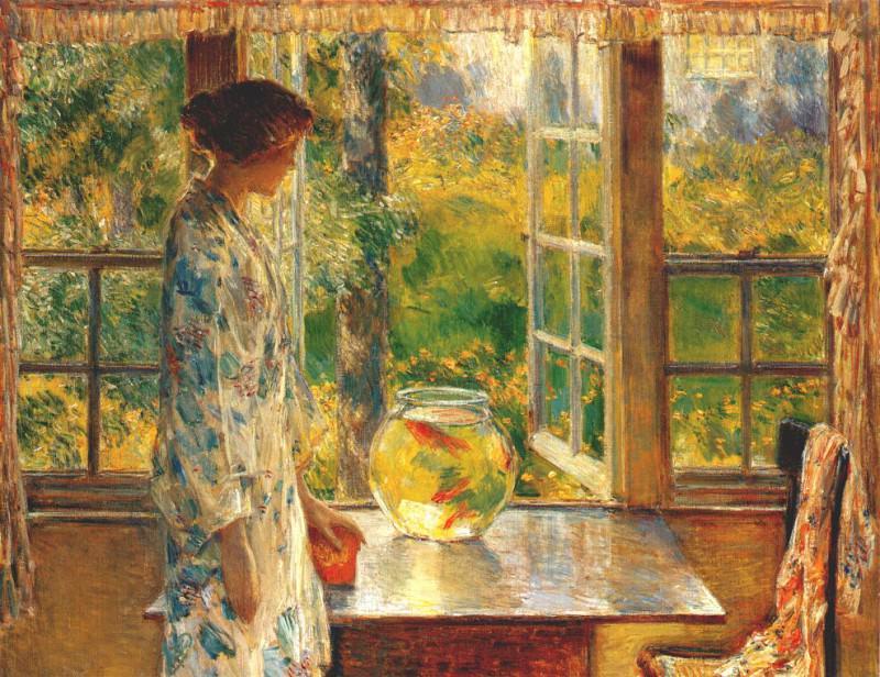Чаша с золотыми рыбками, 1912. Чайлд Фредерик Хассам