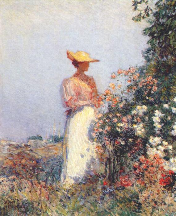 Дама в цветнике, ок.1891. Чайлд Фредерик Хассам