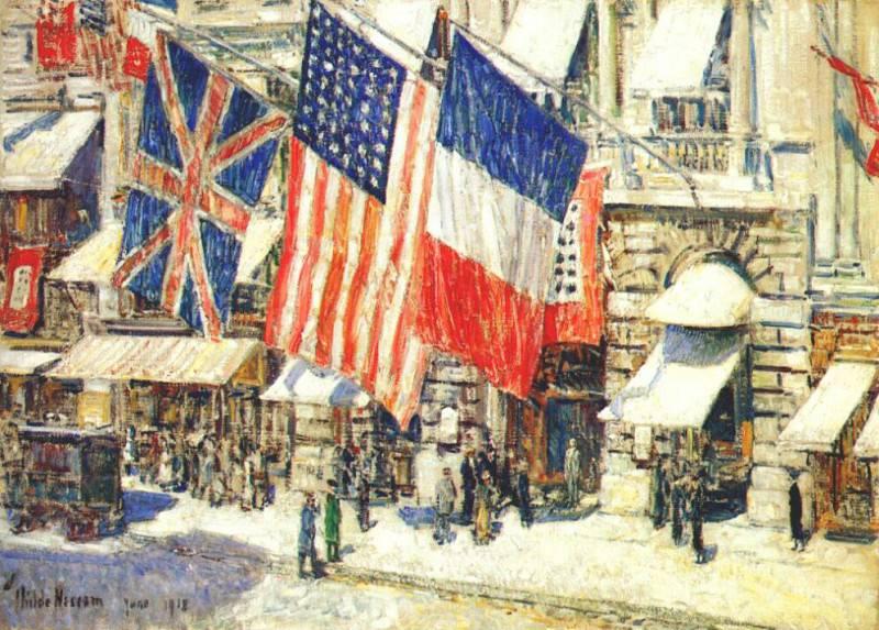 Авеню, залитое солнечным светом, июнь 1918. Чайлд Фредерик Хассам