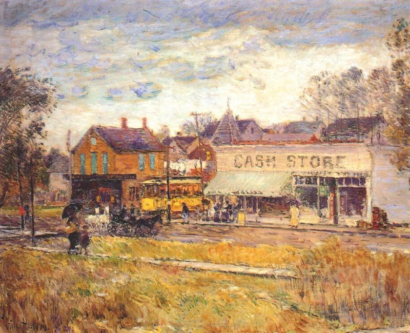 Конец трамвайной линии, Дубравный парк, Иллинойс, 1893. Чайлд Фредерик Хассам