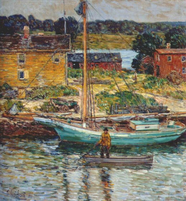 Лодка для ловли устриц, Кос-коб, 1902. Чайлд Фредерик Хассам