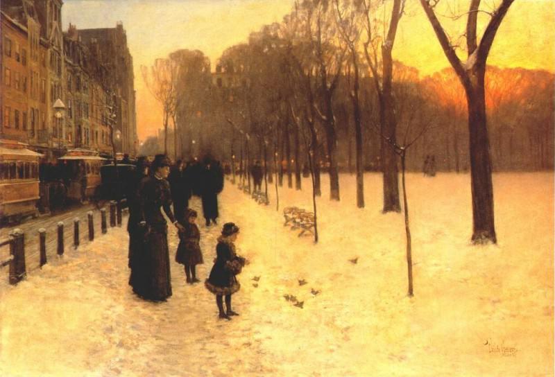 Бостон в наступающих сумерках, 1885-86. Чайлд Фредерик Хассам