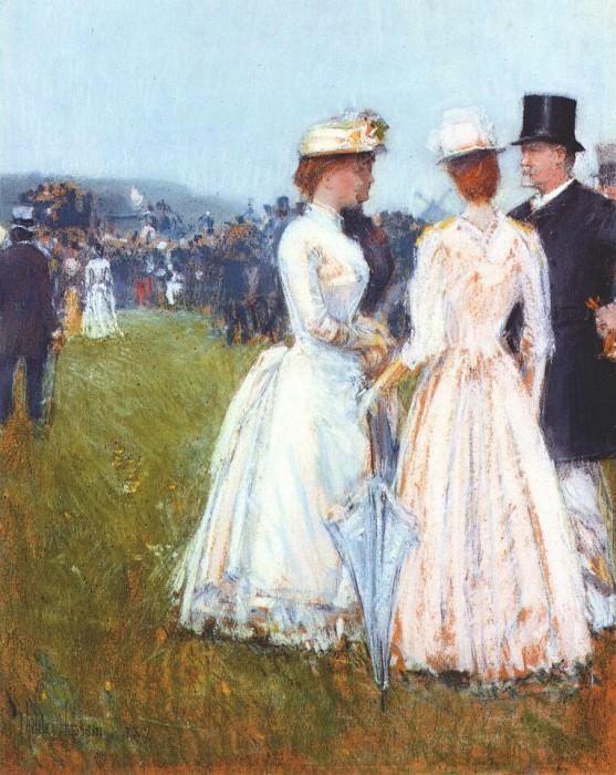 На скачках Гран-при в Париже, 1887. Чайлд Фредерик Хассам
