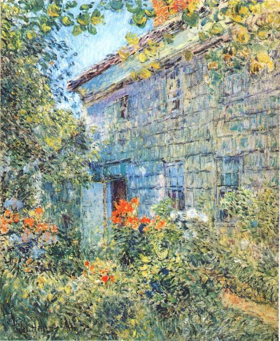 Старые дом и сад, Ист-Хэмптон, 1898. Чайлд Фредерик Хассам
