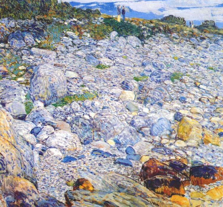 Каменистый берег, Эплдор, 1913. Чайлд Фредерик Хассам