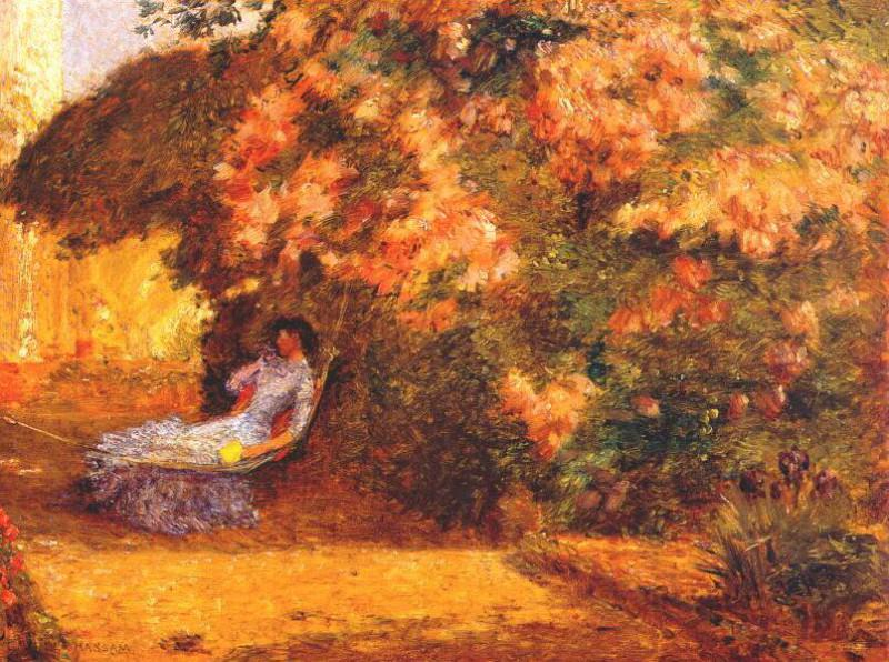 Под сиренью, ок.1887-89. Чайлд Фредерик Хассам