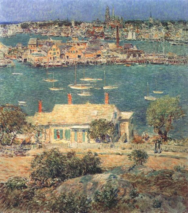 Глостерская гавань, 1899. Чайлд Фредерик Хассам