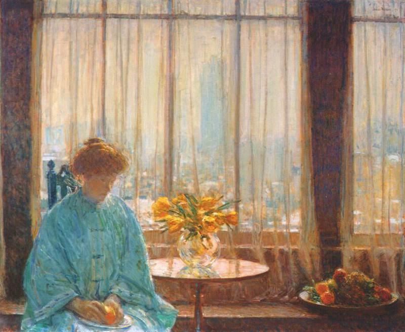 Комната для завтраков, зимнее утро, 1911. Чайлд Фредерик Хассам