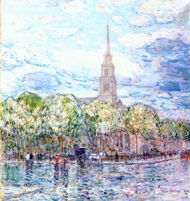 Церковь Св. Марка в Бауэри, 1910. Чайлд Фредерик Хассам