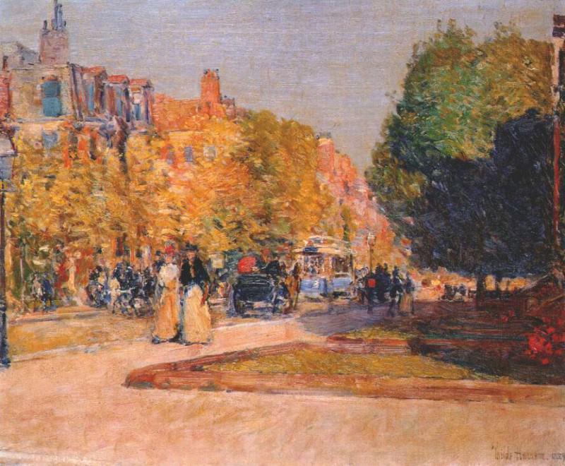 Марлборо-стрит, Бостон, 1889. Чайлд Фредерик Хассам