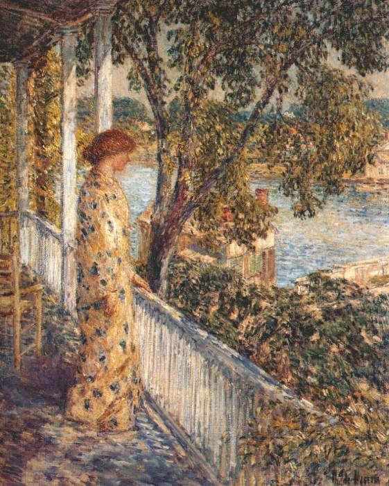 Слушая иволгу, поющую во фруктовом саду, 1902. Чайлд Фредерик Хассам