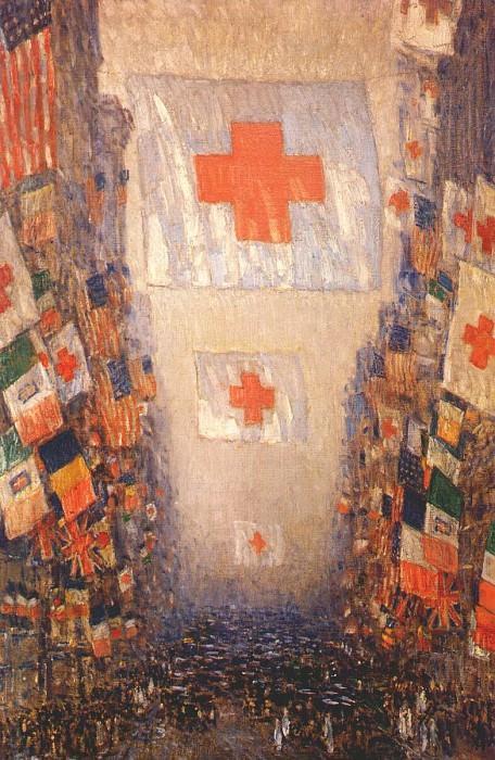 Кампания по поддержке Красного Креста, май 1918. Чайлд Фредерик Хассам