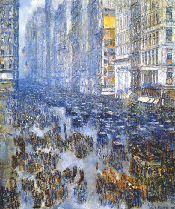 Пятая авеню, 1919. Чайлд Фредерик Хассам