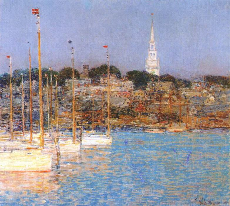 cat boats, newport 1901. Childe Frederick Hassam
