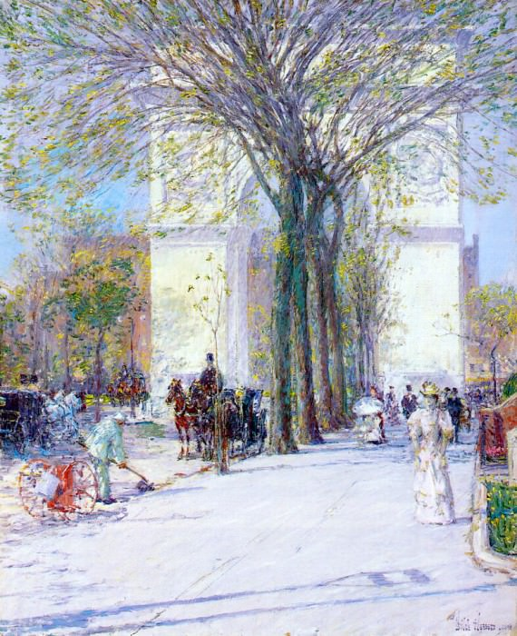 Арка Вашингтона, весна, 1890. Чайлд Фредерик Хассам