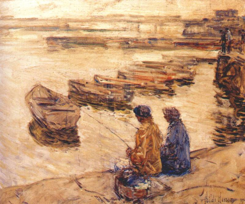 Ловля рыбы, 1896. Чайлд Фредерик Хассам