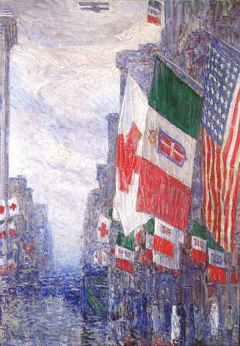 День Италии, май 1918 года. Чайлд Фредерик Хассам